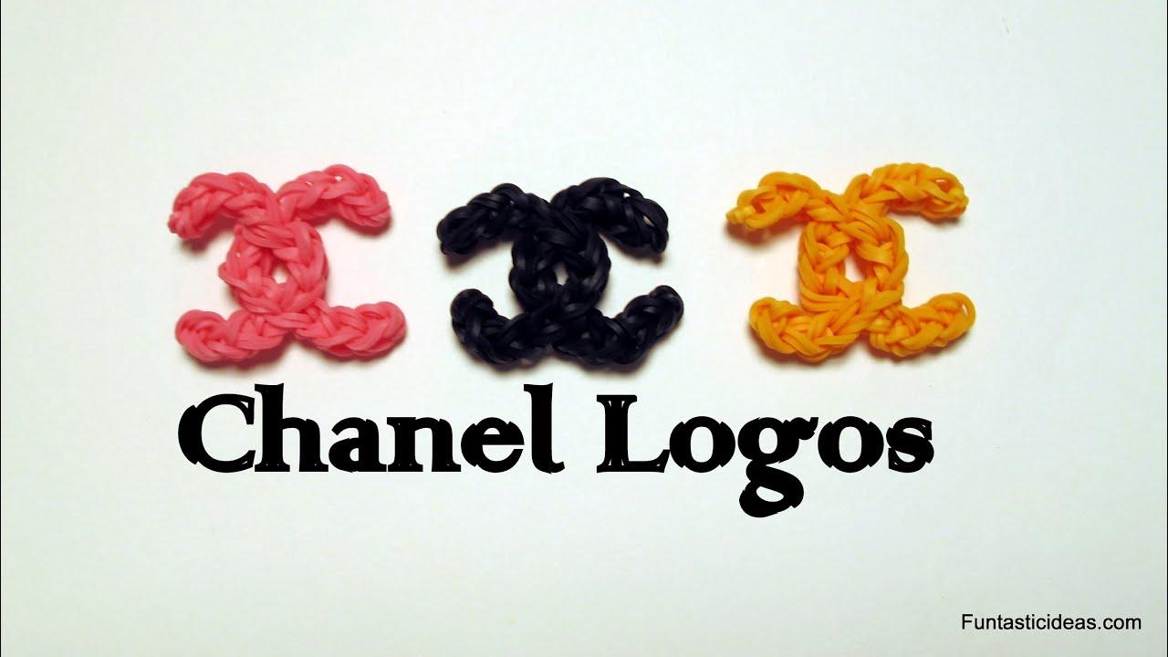 Rainbow Loom Chanel Logo Charm How To Youtube