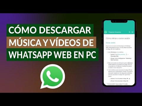¿Cómo Descargar Música, Fotos y Vídeos de WhatsApp Web en mi PC Windows o Mac?