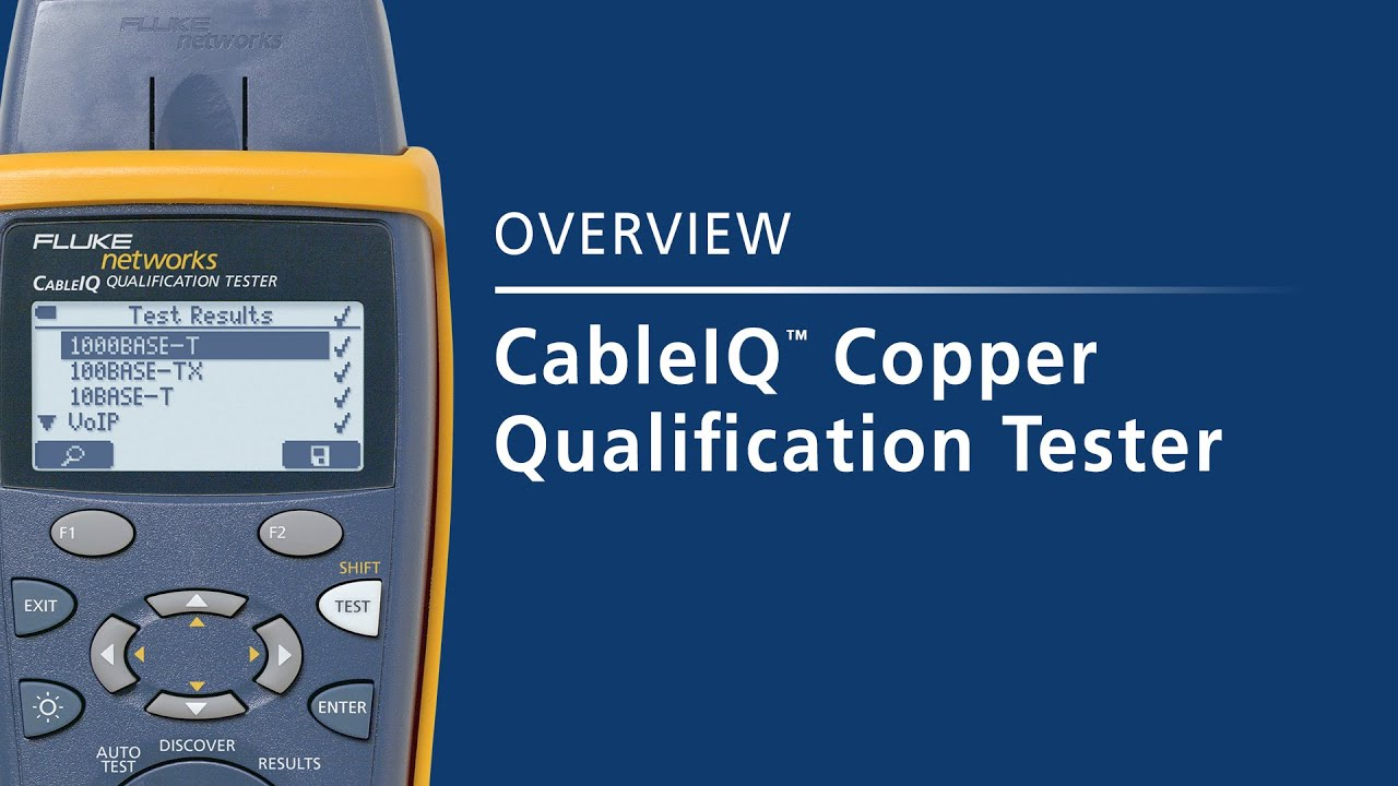 CableIQ Copper Qualification Tester: By Fluke Networks - YouTube