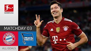 Another Lewandowski Hattrick FC Bayern München Hertha Berlin 5 0 All Goals MD 3 2021 22
