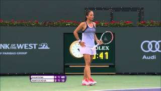 2016 BNP Paribas Open First Round | Daria Kasatkina vs Daniela Hantuchova | WTA Highlights