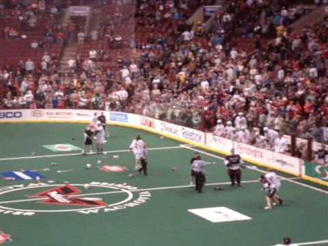 Boston Blazers and Philadelphia Wings team brawl from 3/27/10 game