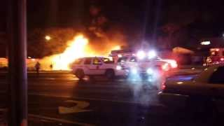 Tanker truck inferno. Bellmore, NY 12-17-13