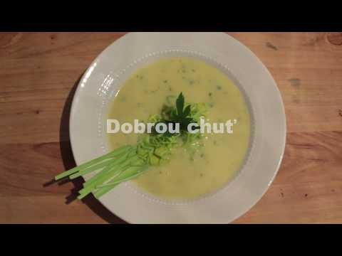 Krémová pórková polévka se smetanovým sýrem