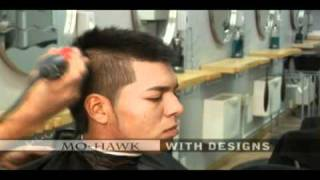 how to do a mo hawk fade haircut , graphic hair designs , faux fo hawk haircut DVD