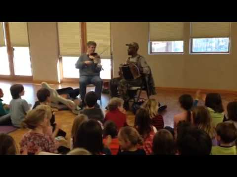 Cedric Watson and Dirk Powell Truckee Elementary school out
