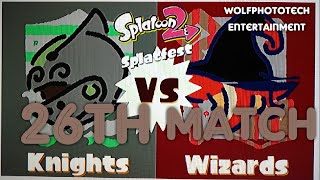 New) My 26th match of the Knights versus Wizards Splatfest for Splatoon 2 on the Nintendo Switch