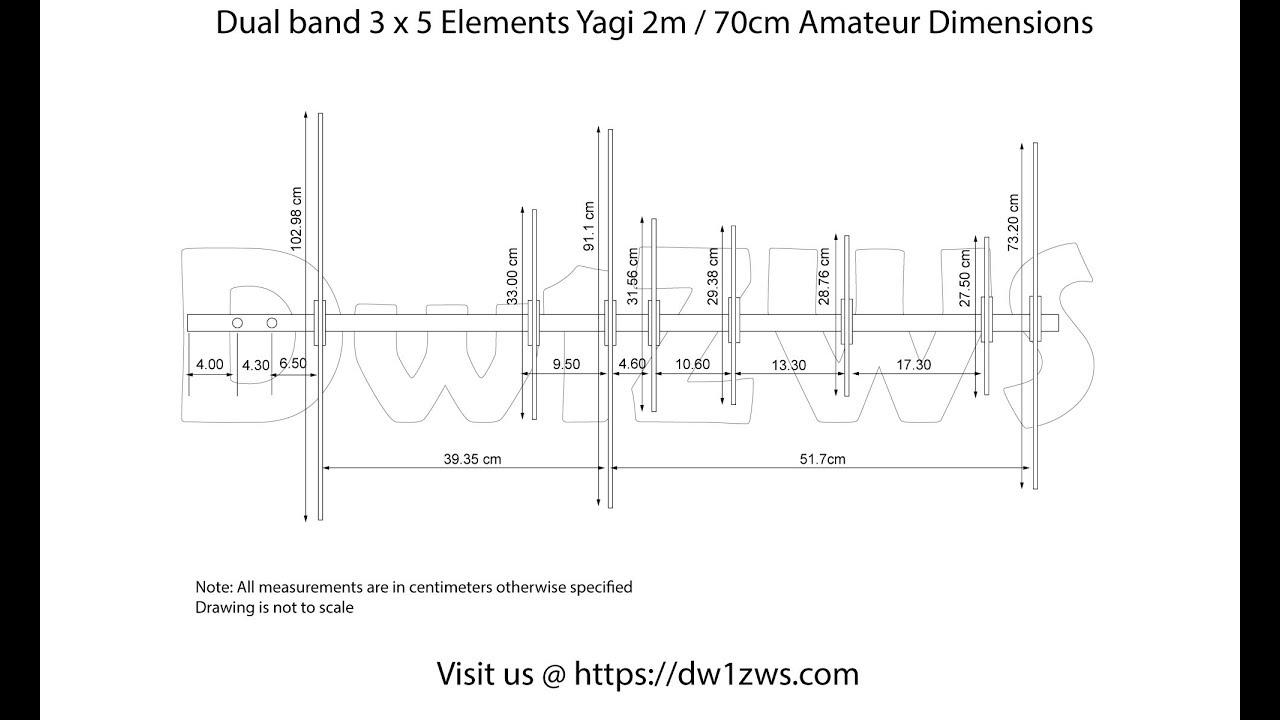 Building 40 Elements x 40 Elements 40m/40cm Dualband Yagi