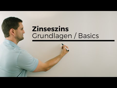 Zinseszins, Grundlagen Basics, Wachstumsfaktor   Mathe By Daniel Jung