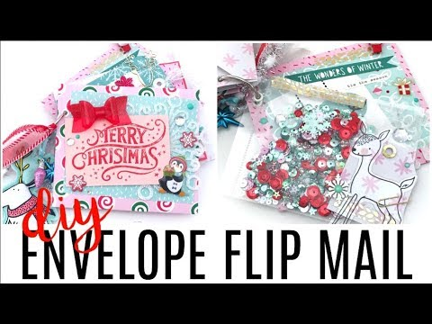 Envelope Flip Mail | Holiday Snail Mail: Christmas Crafts #1 | Serena Bee Creative