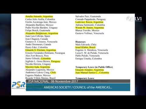 El Council of Américas y la America Society / Programa Nacional 8-11-17