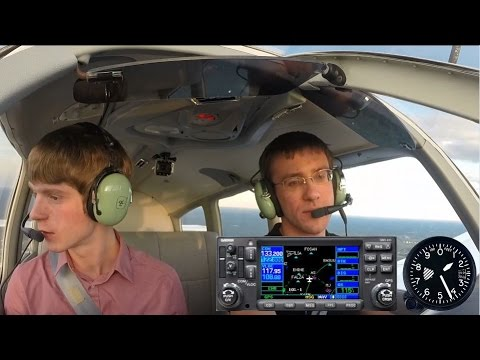 Piper Warrior Introductory Flight - ATC Audio with Gauges