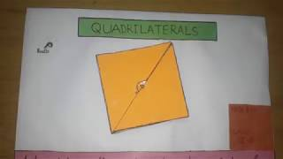 MATHS WORKING MODEL ON QUADRILATERALS FOR CLASS 9 and 10