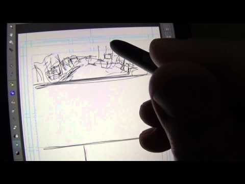 Drawing thumbnails on the ASUS VivoTab Note 8 with Manga Studio