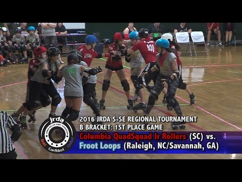 2016 JRDA S-SE Regional Tournament: CQS Junior Rollers vs. Froot Loops (B Bracket 1st Place)