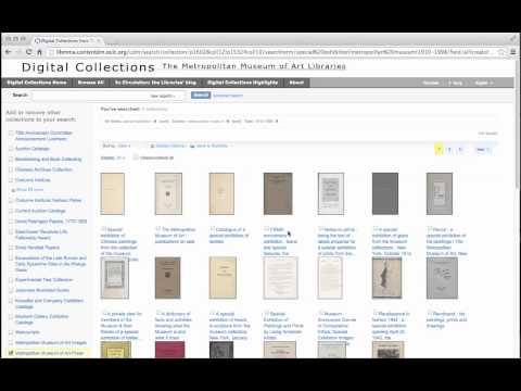 Thomas J. Watson Library: Sorting and Modifying Your Digital Collections Search Results