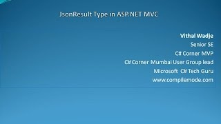 JsonResult Type in ASP.NET MVC