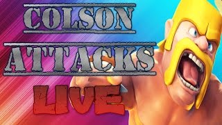 """CLAN WARS LIVE ATTACKS! """"HOW TO FAIL KILL 7 DRAGONS IN 5 SECONDS"""" (CLASH OF CLANS)"""