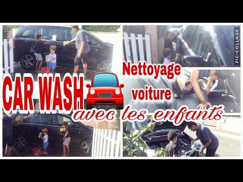🚘🧽on-nettoie-la-voiture-avec-les-enfants-//-car-wash-//-mÉnage-de-la-voiture
