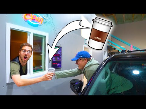 DRIVE THRU COFFEE SHOP IN OUR WAREHOUSE!