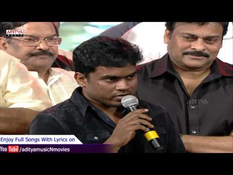 Yuvan Shankar Raja Speech - Govindudu Andarivadele Audio Launch Live - Ram Charan