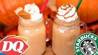 Homemade Starbucks Pumpkin Spice Frappuccino & DQ Pumpkin Pie Blizzard