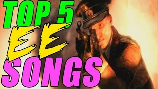 """""""Top 5"""" """"Call of Duty ZOMBIES"""" EASTER EGG SONGS! World at War, Black Ops, & Black Ops 2!"""
