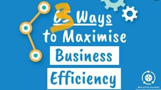 3 Sätt att öka effektiviteten i din organisation