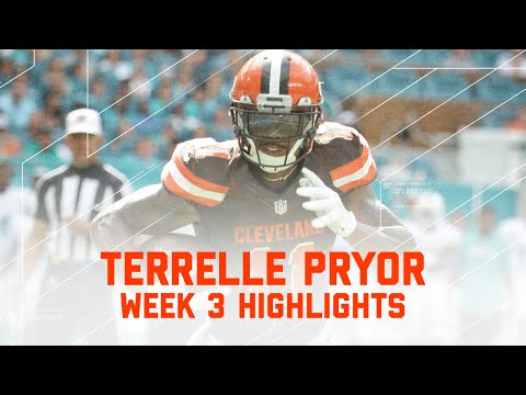 Terrelle Pryor Highlights (Week 3) | Browns vs. Dolphins | NFL