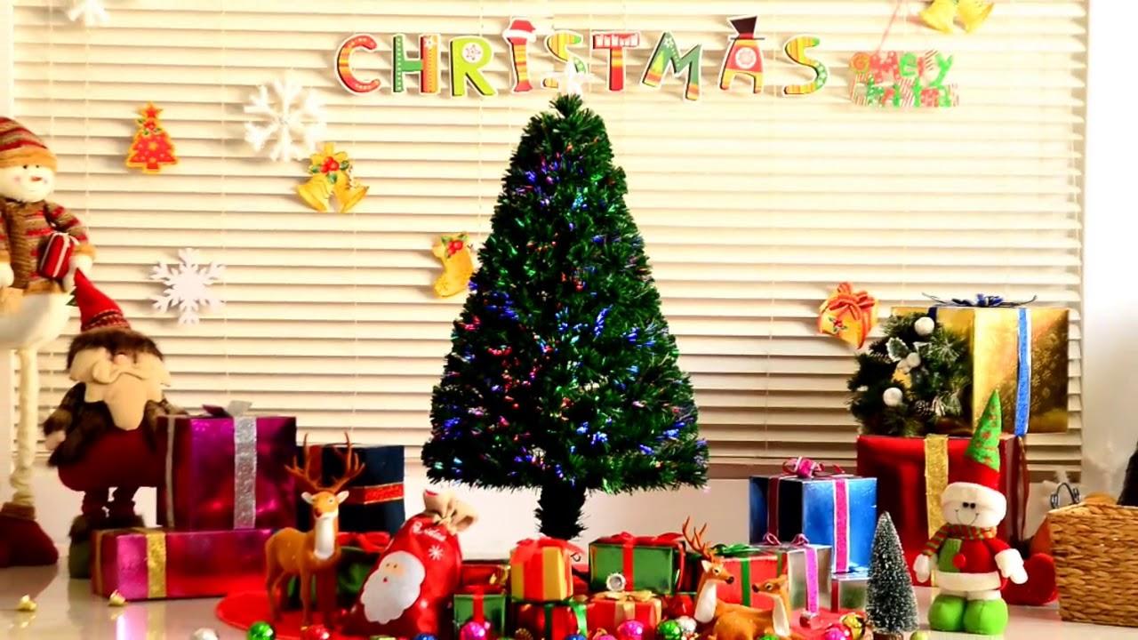 Homcom arbol de navidad luces led arbol artificial verde - Arbol artificial de navidad ...