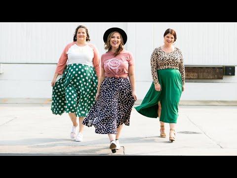 Jennifer Flare Midi Skirt Lularoe Spring Collection