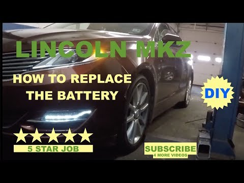 How to replace battery on Lincoln KMZ 2015