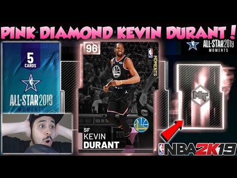 NBA 2K19 NBA ALL STAR GAME MVP PINK DIAMOND KEVIN DURANT PACK OPENING IN MYTEAM thumbnail