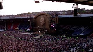 Olly Murs warms up Robbie Williams crowd Hampden Park Glasgow 25th June 2013 vid1