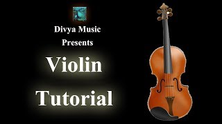 How to play Violin - Indian classical Carnatic Violin online lessons Learn playing Violin songs