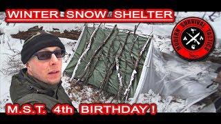 Winter Snow Shelter / HIDDEN OVERNIGHT 5 Video