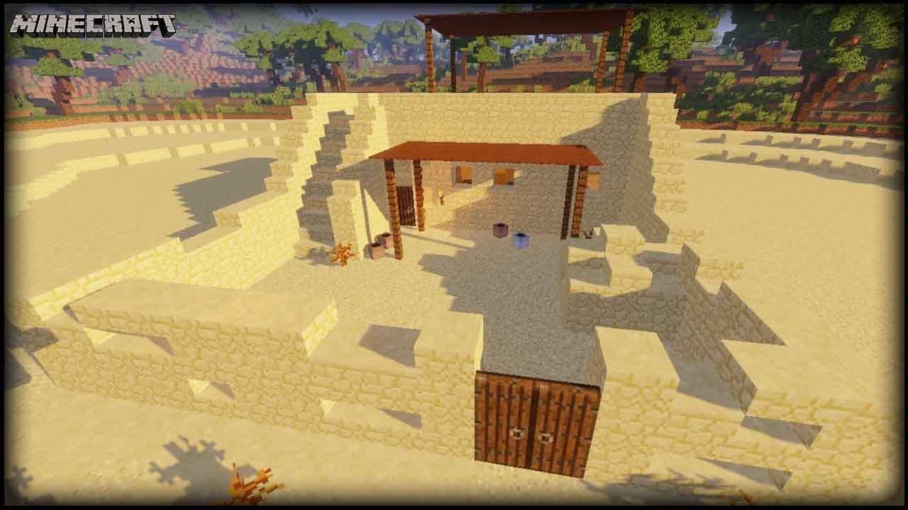 Minecraft Ancient Egyptian House Tutorial