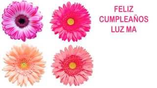 LuzMa   Flowers & Flores - Happy Birthday