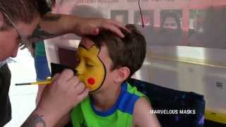 Pikachu Face Painting | Marvelous Masks Chicago Face Painting
