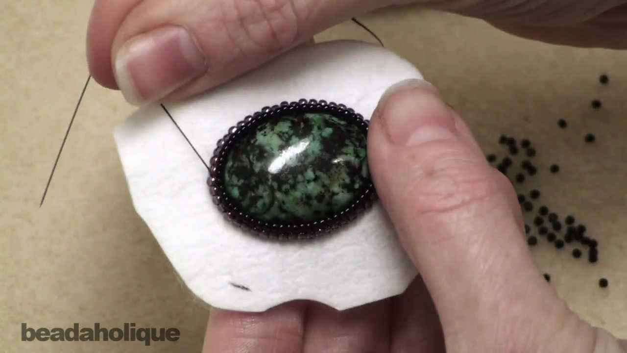 How to create a bezel row in bead embroidery youtube