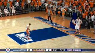 NCAA Basketball 10 Gameplay (PS3) - UNC at Illinois