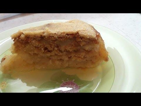 Яблочный песочный пирог в мультиварке