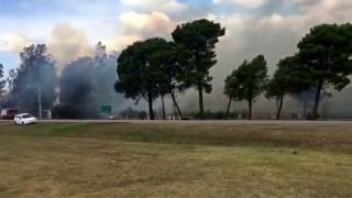 Incendio en zona de Metileo