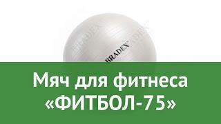 Мяч для фитнеса «ФИТБОЛ-75» обзор SF 0017 7290011034214 бренд Bradex производитель Bradex (Израиль)