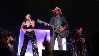 Noah, Miley and Billy Cyrus opening for Katy Perry