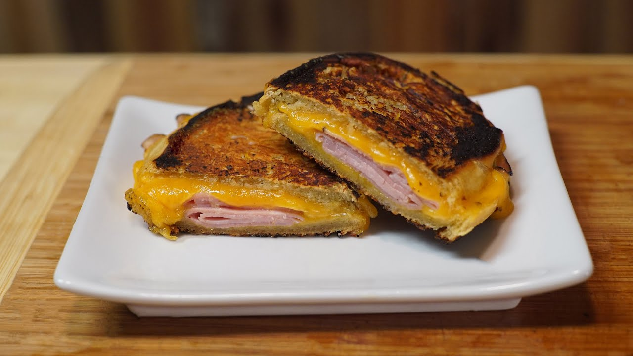Grilled Ham & Cheese Sandwich - YouTube