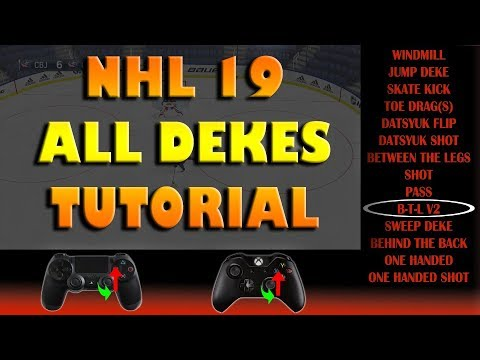 NHL 19 ALL DEKES Advanced/Beginner Tutorial!