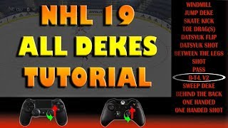 NHL 19 ALL DEKES Advanced/Beginner Tutorial!