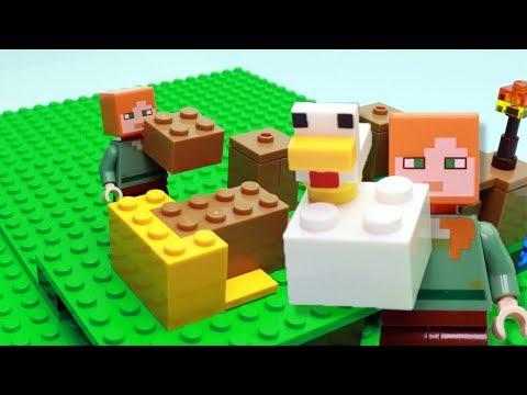LEGO Minecraft Chicken Coop 21140 Brick Building Stop Motion Animation