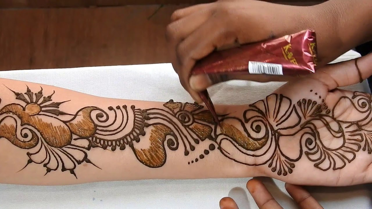 Where To Get Temporary Henna Tattoos Near Me: DIY How To Make Arabic Mehndi Temporary Tattoo Design